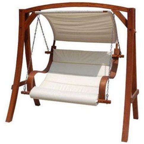 Wooden Large 2-3 Seater Garden Swing Seat Hammock wi...