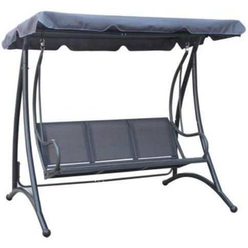 3 Seater Swing Seat Garden Patio Hammock & Canopy - ...