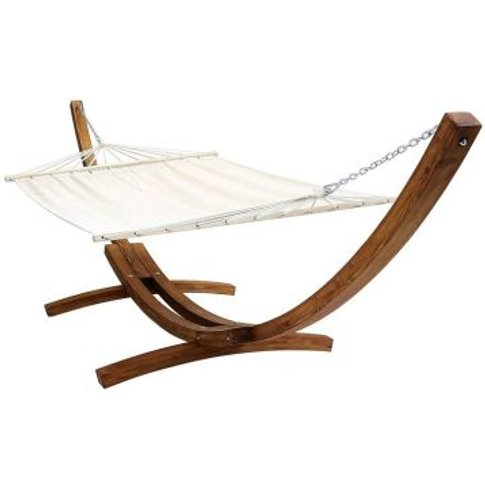 Extra Large 2 Person Garden Hammock with Wooden Arc ...
