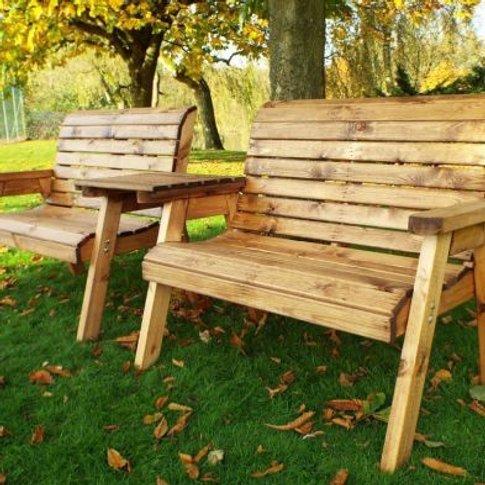 4 Seater Straight Traditional Scandinavian Redwood G...