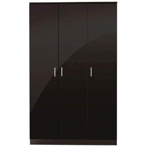 Ottawa Wardrobe Black 3 Door