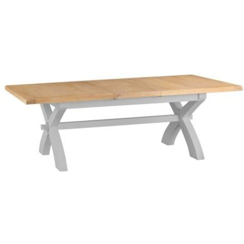 Lighthouse Extending Dining Table Grey & Oak 6/8 Seater