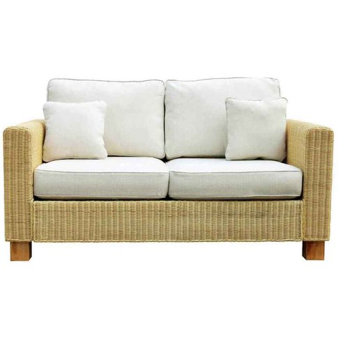 Conservatory Wicker Rattan Large 2 Seat Sofa - Kensington