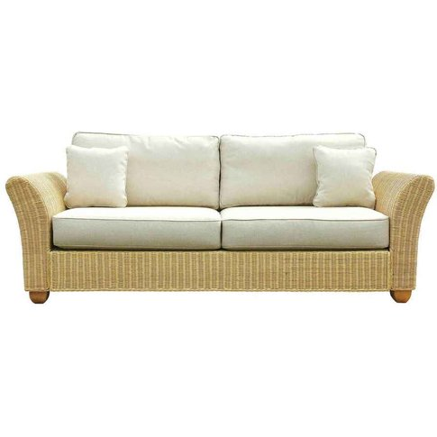 Conservatory Wicker Rattan 3 Seat Sofa - Kingston