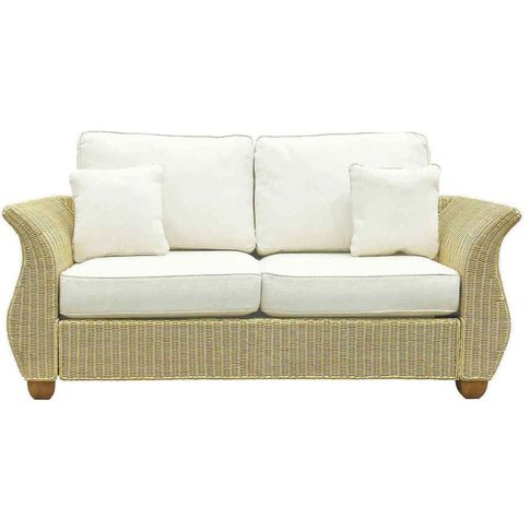 Wicker Rattan Large 2 Seat Conservatory Sofa - Chelsea