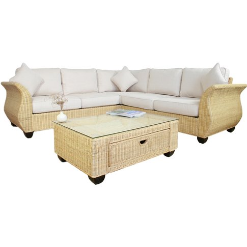 Chelsea Wicker 268cm X 268cm Rattan Corner Sofa In A...