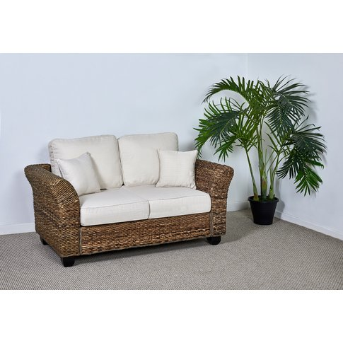 Rattan Conservatory Medium 2 Seat Sofa - Kingston Abaca