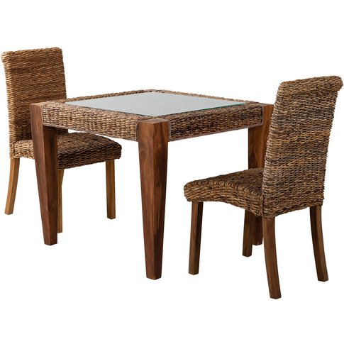 Rattan Conservatory Small Dining Table & 2 Chairs - ...