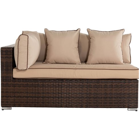 Monaco Rectangular Right As You Sit Rattan Garden So...