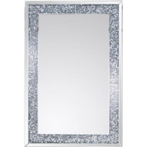 Silver Crystal Effect Mirror - Silver