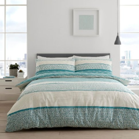 Isana Duvet Cover And Pillowcase Set - Teal / Single