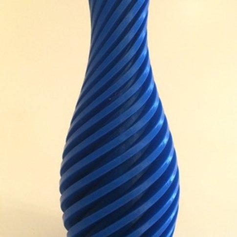 Diagonal Vase 14cm - Blue