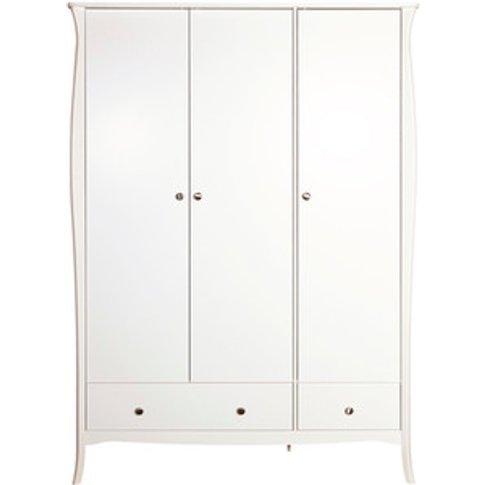 Steens Baroque Three Door Wardrobe - White