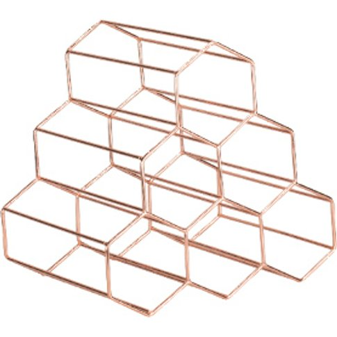 Hexagonal Wine Rack - Rose Gold