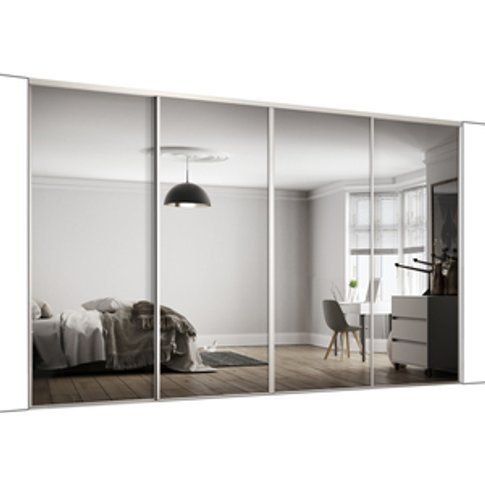 Spacepro Frame Mirror 610mm Classic Sliding Door Kit...