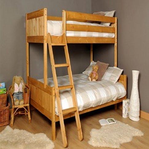 Triple Wooden Bunk Bed  - Brown