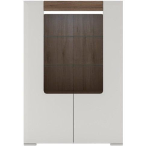 Laos Two Door Cabinet Plus Flex Light - White