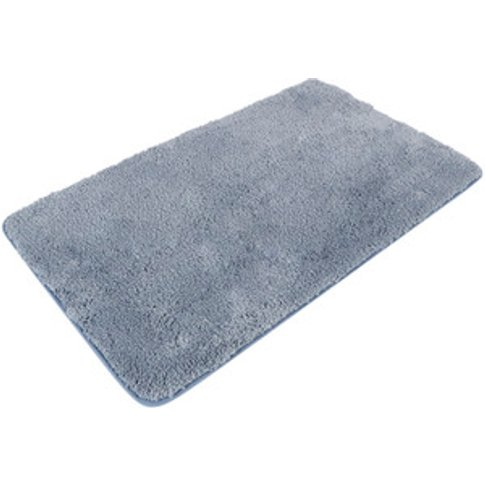 Miram Microfibre Bath Mat - Azure Blue