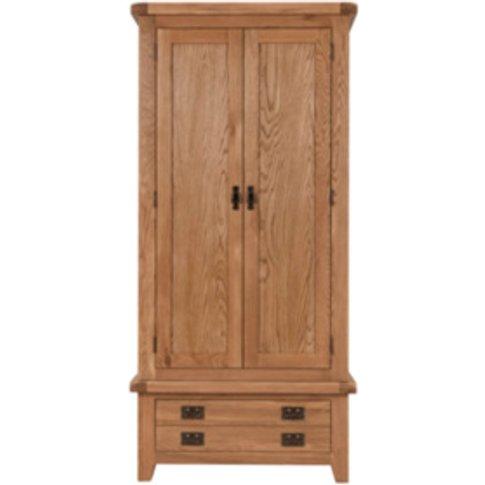 Kinsale One Drawer Gents Wardrobe - Oak