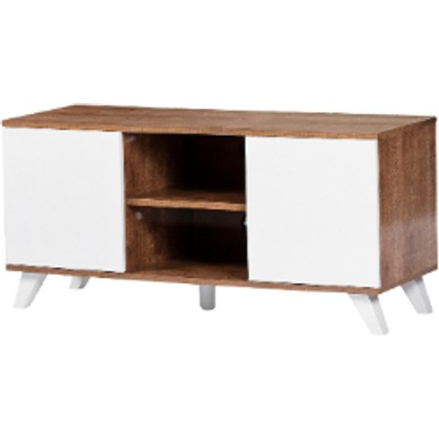 Seville Tv Unit - White / White Doors