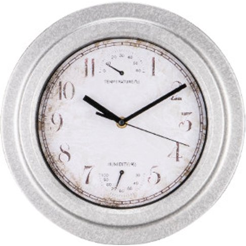 Galvanised Plastic Garden Clock