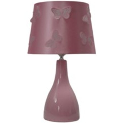 Butterfly Cut Out Table Lamp - Pink