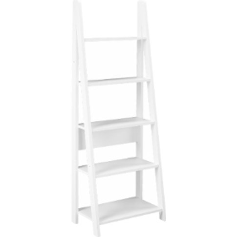 Tiva Ladder Bookcase - White