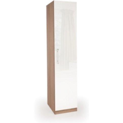 Ashburton One Door Wardrobe - Oak / Gloss White