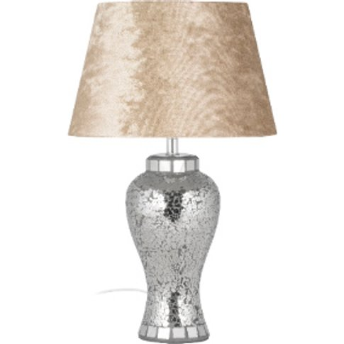 Mink Mosaic Table Lamp - Silver