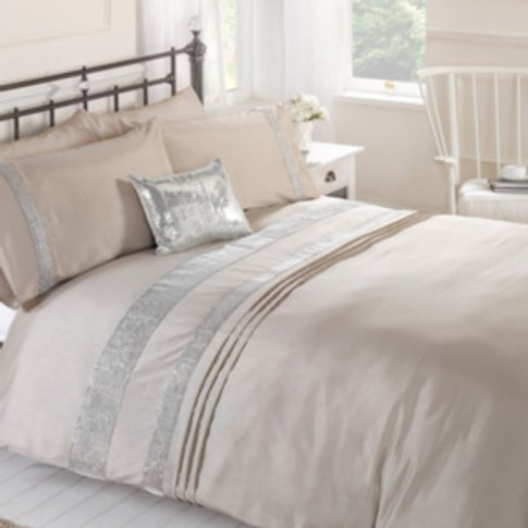 Munroe Duvet Cover and Pillowcase Set - Gold