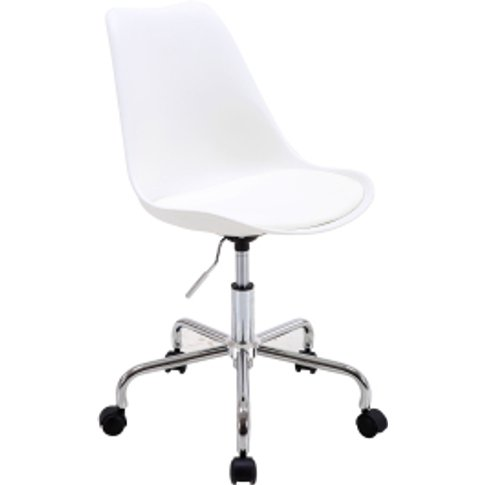 Galaxy Swivel Office Chair - White