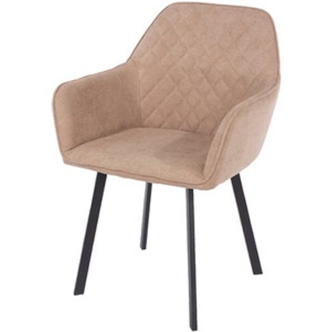 Aspen Fabric Armchairs With Metal Legs - Pair - Sand