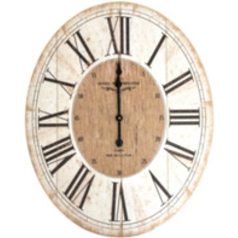 Hotel Westminster Oval 80cm Clock - Neutral