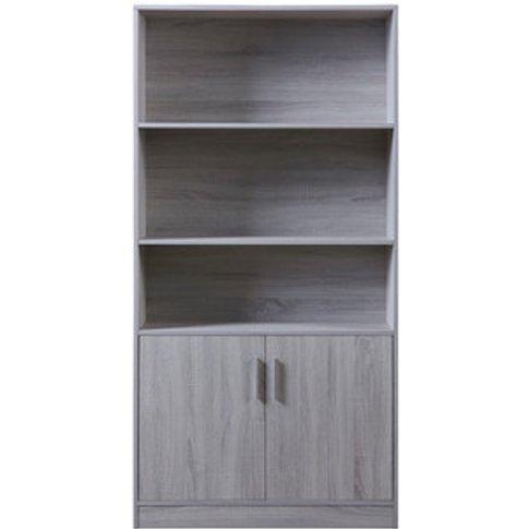 Hartley Bookcase - Light Grey
