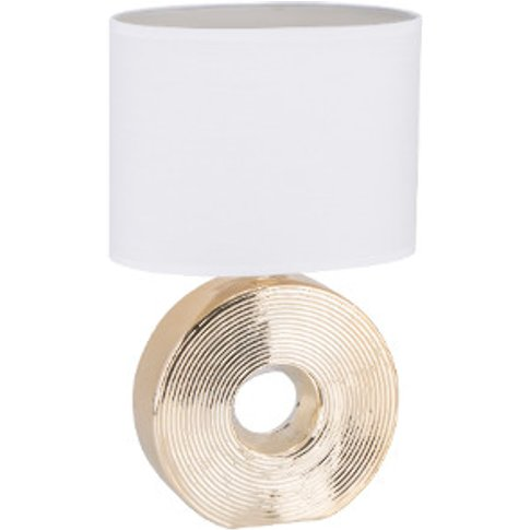 Champagne Gold Circular Table Lamp