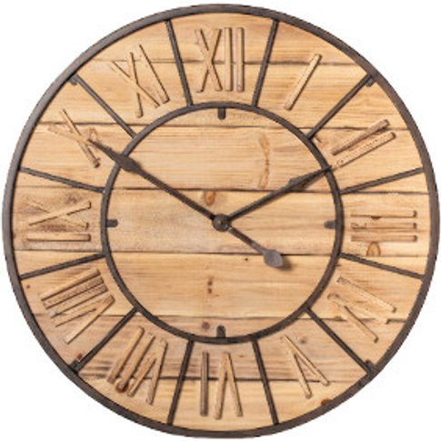 Wooden Roman Numeral Clock