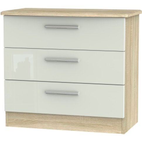 Kensington Kashmir Three Drawer Chest - Bardolino