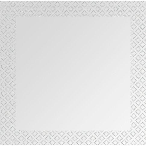 Glitter Quatrefoil Edge Mirror - Silver