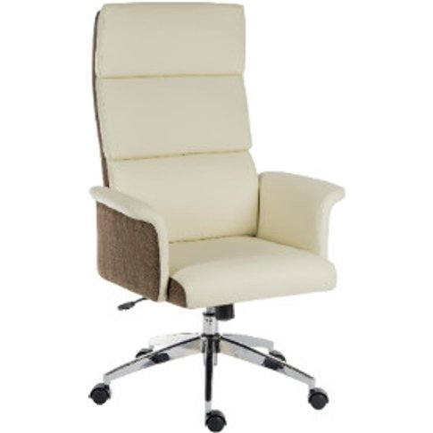 Elegance High Back Office Chair - Cream