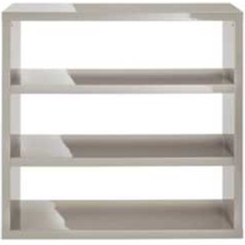 Puro High Gloss Bookcase - Stone
