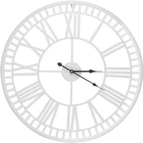 White Iron Wall Clock - White