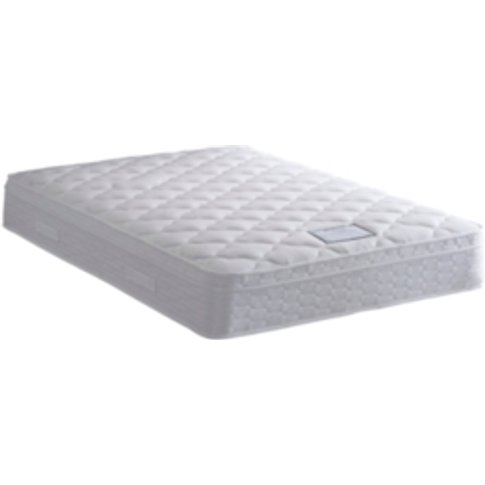 Siena Delux Pillow Top Mattress - White / Double