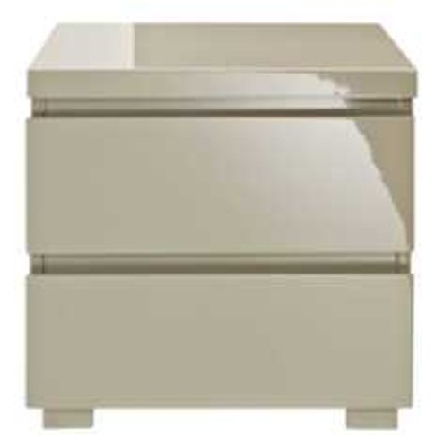 Puro 2 Drawer Bedside Table - Stone