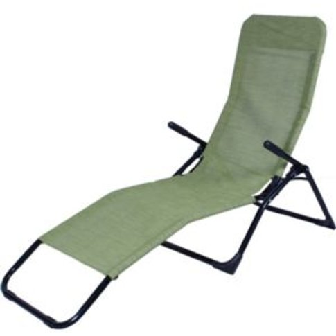 Barcelona Sun Lounger - Green and black