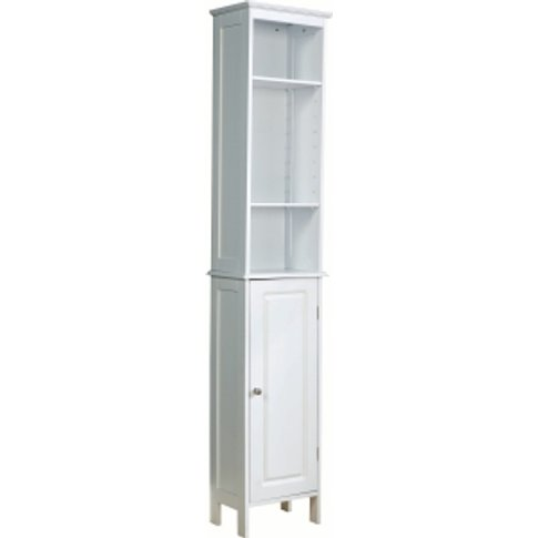 Chatsworth Tall Bathroom Unit - White