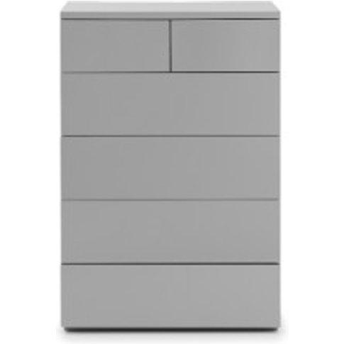 Lisbon 6 Drawer Chest - Grey