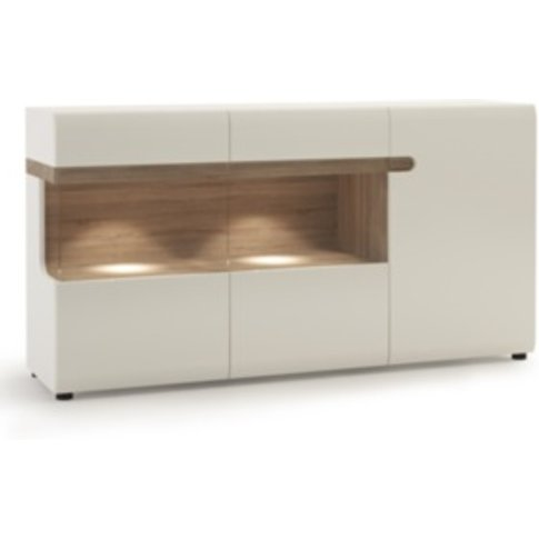 Lecce Three Door Sideboard - White Gloss