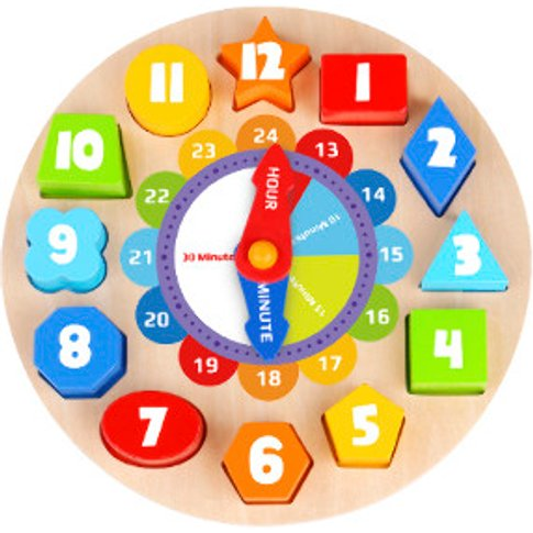 Wooden Clock - Shapes