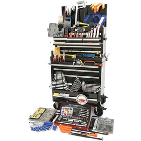 Hilka Tool Kit In Professional Chest Cabinet - Black