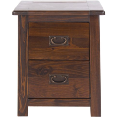 Boston Two Drawer Bedside Cabinet